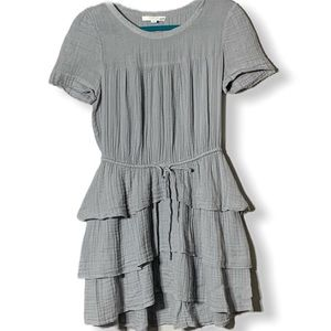 Piperlime Tier Ruffle Drawstring Waist Dress